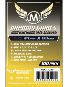 41mm x 63mm: Mini USA Game Size (100 stuks)