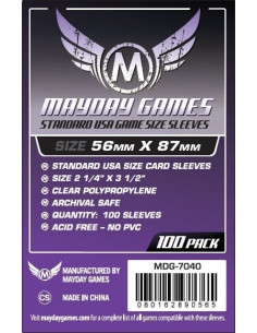 56mm x 87mm: Standard USA Game Size (100 stuks)