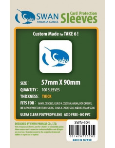 57mm x 90mm: Sleeves Thick (100 stuks)