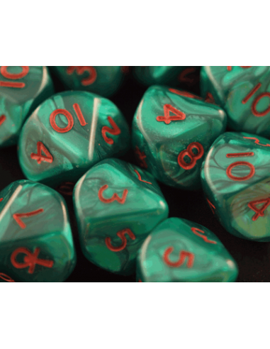 Marbled green Ankh d10