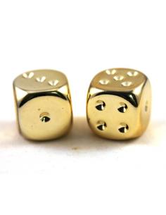 d6 16mm metallic-gold (2 pcs)