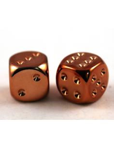 d6 - 16mm metallic-copper (2 pcs)