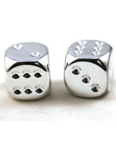 d6 16mm metallic - zilver (2 stuks)