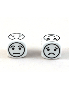 d6 Smiley Face 18mm