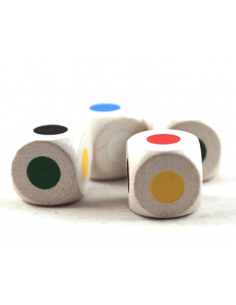 Dice with 6 dots (16mm)