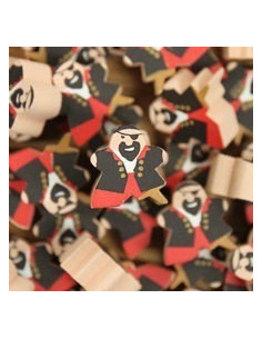 Meeple - pirate with wooden leg