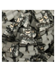 Meeple - grey camouflage soldier