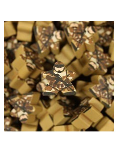 Meeple - camouflage soldier sand