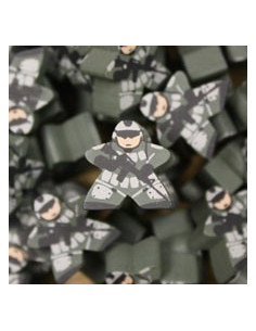 Meeple - camouflage soldier green