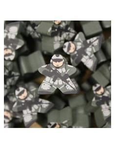 Meeple - soldaat groen