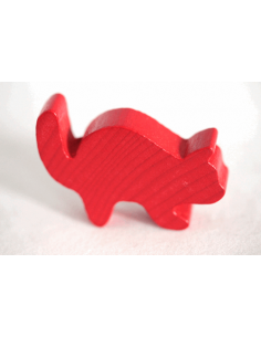 Houten kat rood