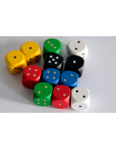 d6 dice 12mm (wood)