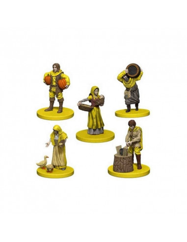 Agricola: Agricola Game Expansion: Yellow (5 Figures)