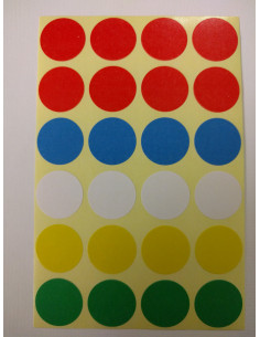 Sticker sheet dots 18mm