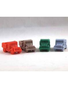 Set van 4 vrachtwagens