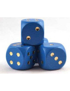 d6 dice 16mm (wood)