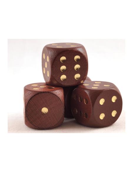 d6 Dobbelsteen 16mm (houten) Bruin - Clever / Qwixx