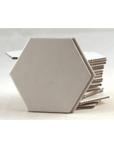 Hexagon 25mm blanco