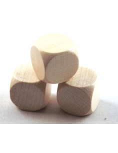 d6 blanco 20mm (hout)