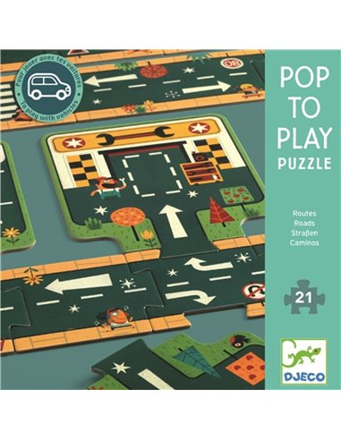Djeco POP TO PLAY - Wegen 21 pieces