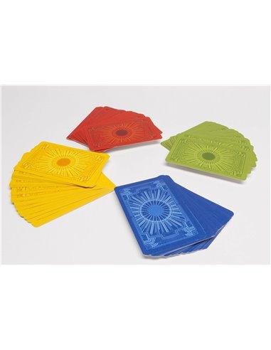 Blanco Speelkaarten met Gekleurde Achterkant