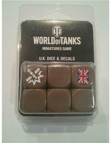 World of Tanks U.K. Dice (x6) & Decal (x1)
