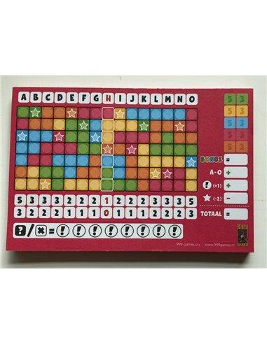Keer op Keer Score Blok (Roze)