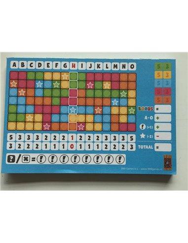 Keer op Keer Score Blok (Blauw)