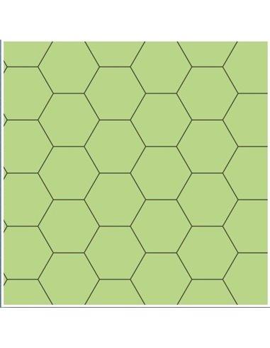 "Gaming Paper: Green 1"" Hexagon Roll"