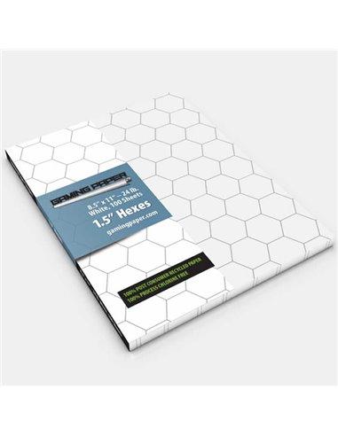 "Gaming Paper Singles: White 1.5"" Hexagon"